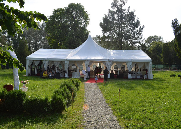 High Peak Top White Canvas Marquee Party Tent For Wedding Reception Waterproof