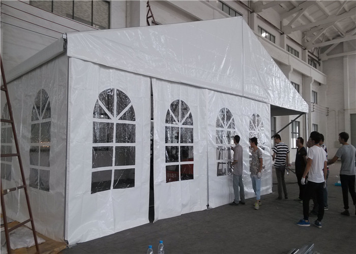 Waterproof Big White Marquee Party Tent , Outdoor Wedding Marquee Tent