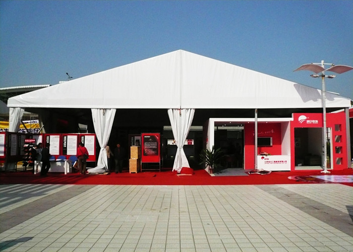Large Capacity White PVC Outdoor Party Canopy Tent , Outdoor Winter Wedding Tent