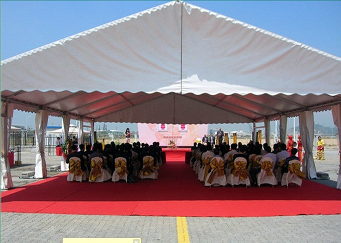 100 People PVC Aluminum Frame Structure Marquee Event Tent Fire Resistant