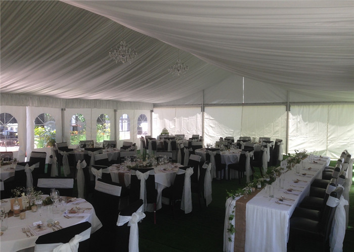 Small Aluminium Frame Tent With Liners And Decorations , Aluminum Clear Canopy Tent