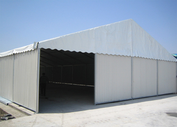 Metal Sidewalls Industrial Warehouse / Storage Tents With Shutter Door